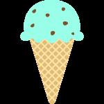 チョコミントアイスクリームの無料イラスト