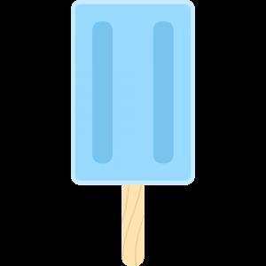 ソーダのアイスキャンディーの無料イラスト
