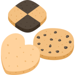 クッキーの無料イラスト