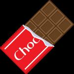 板チョコレートの無料イラスト