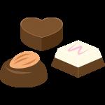 チョコレートの無料イラスト