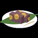 栗ようかん(羊羹)の無料イラスト