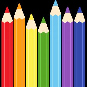 色鉛筆の無料イラスト