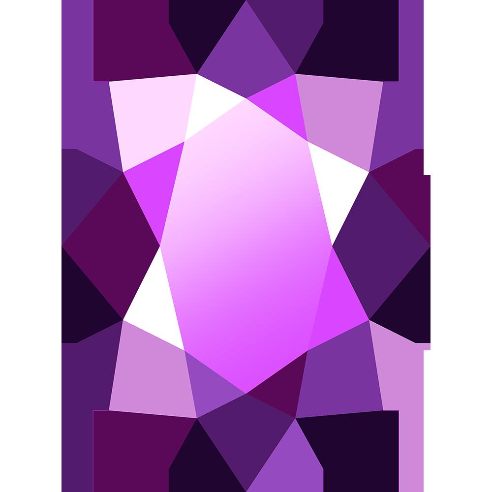 宝石アメジストの無料イラスト