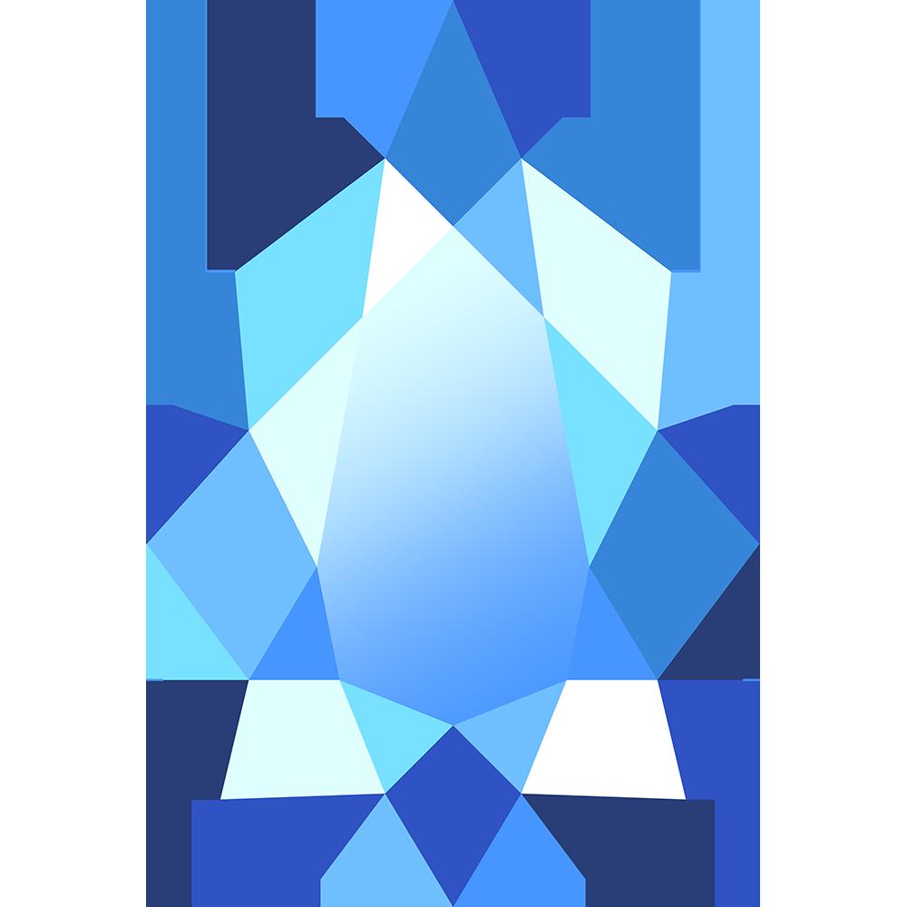 宝石アクアマリンの無料イラスト