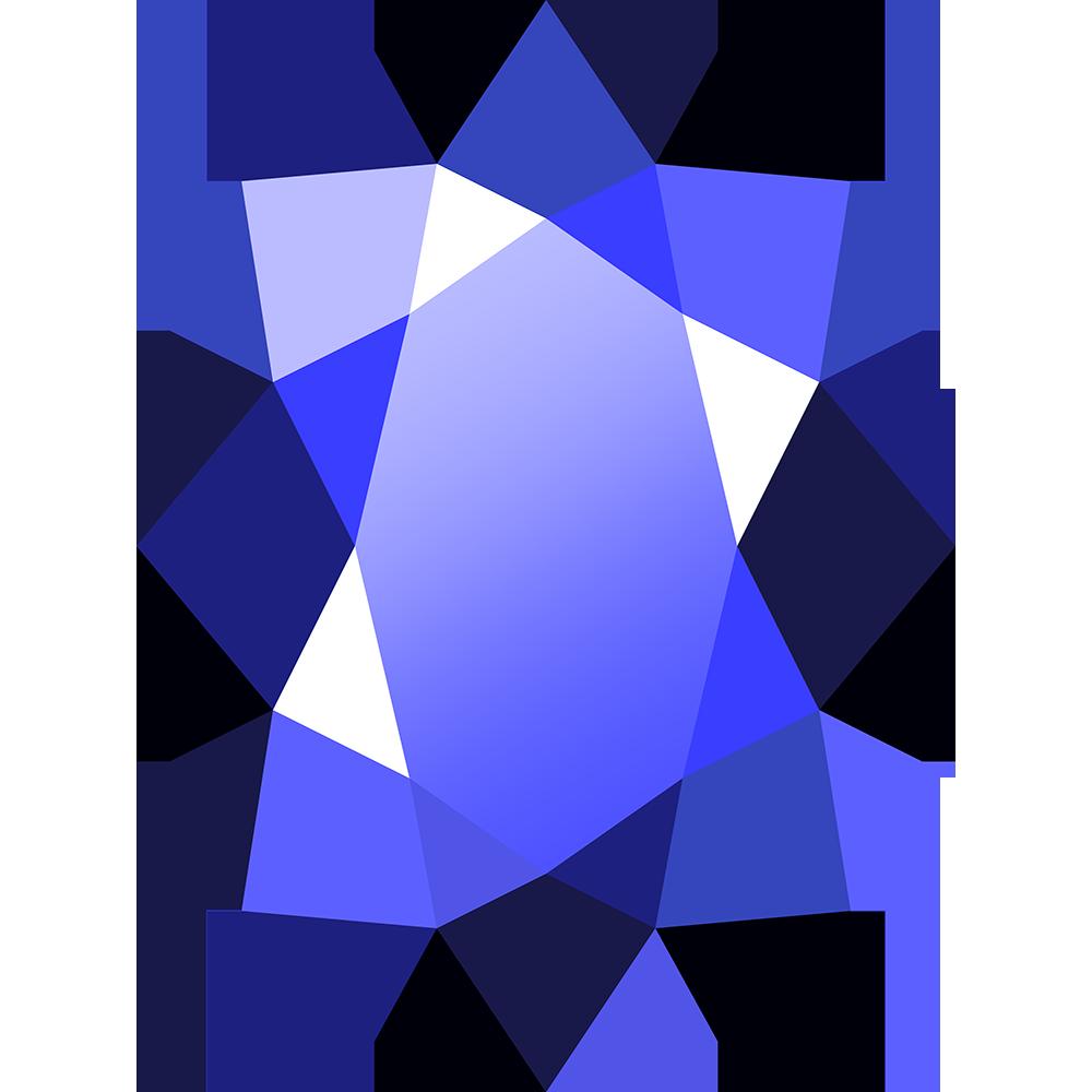 宝石サファイアの無料イラスト