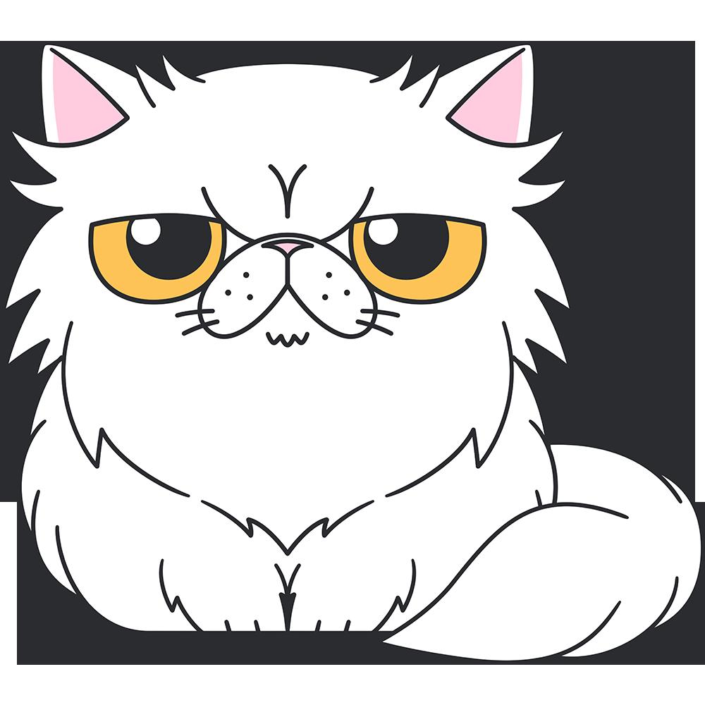 ペルシャ猫の無料イラスト
