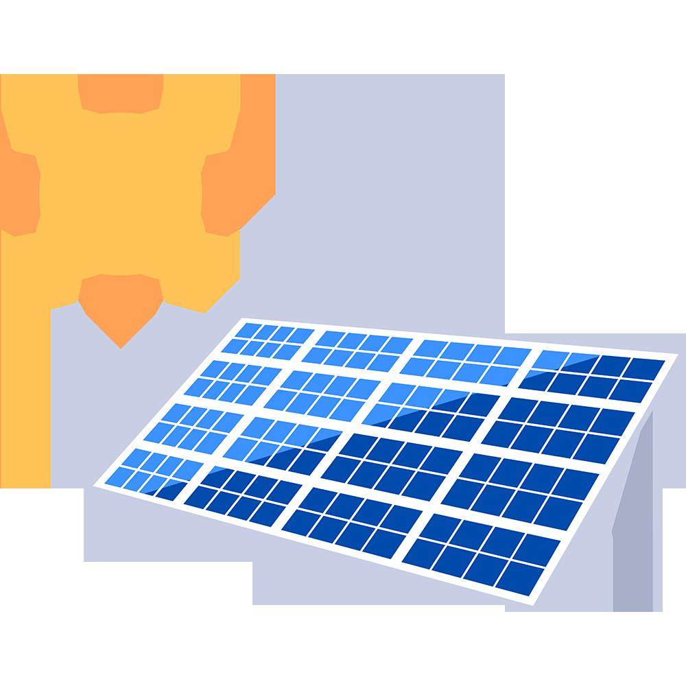 ソーラーパネルの無料イラスト