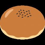 あんパンの無料イラスト