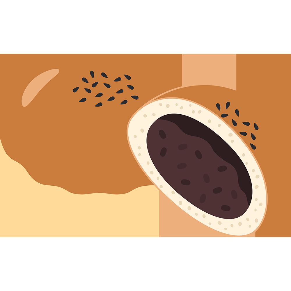 あんパン(2)の無料イラスト