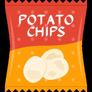 ポテトチップスの無料イラスト