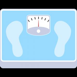 体重計の無料イラスト