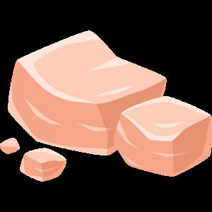 岩塩の無料イラスト