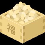 節分の豆の無料イラスト
