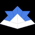 折り紙の兜の無料イラスト
