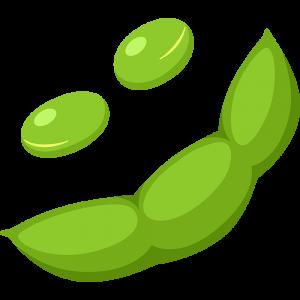 枝豆の無料イラスト