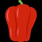 赤いパプリカの無料イラスト