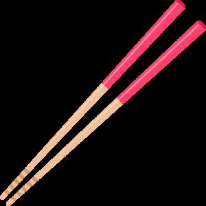 女性用の箸の無料イラスト