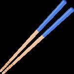 男性用の箸の無料イラスト