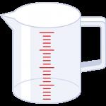 計量カップの無料イラスト