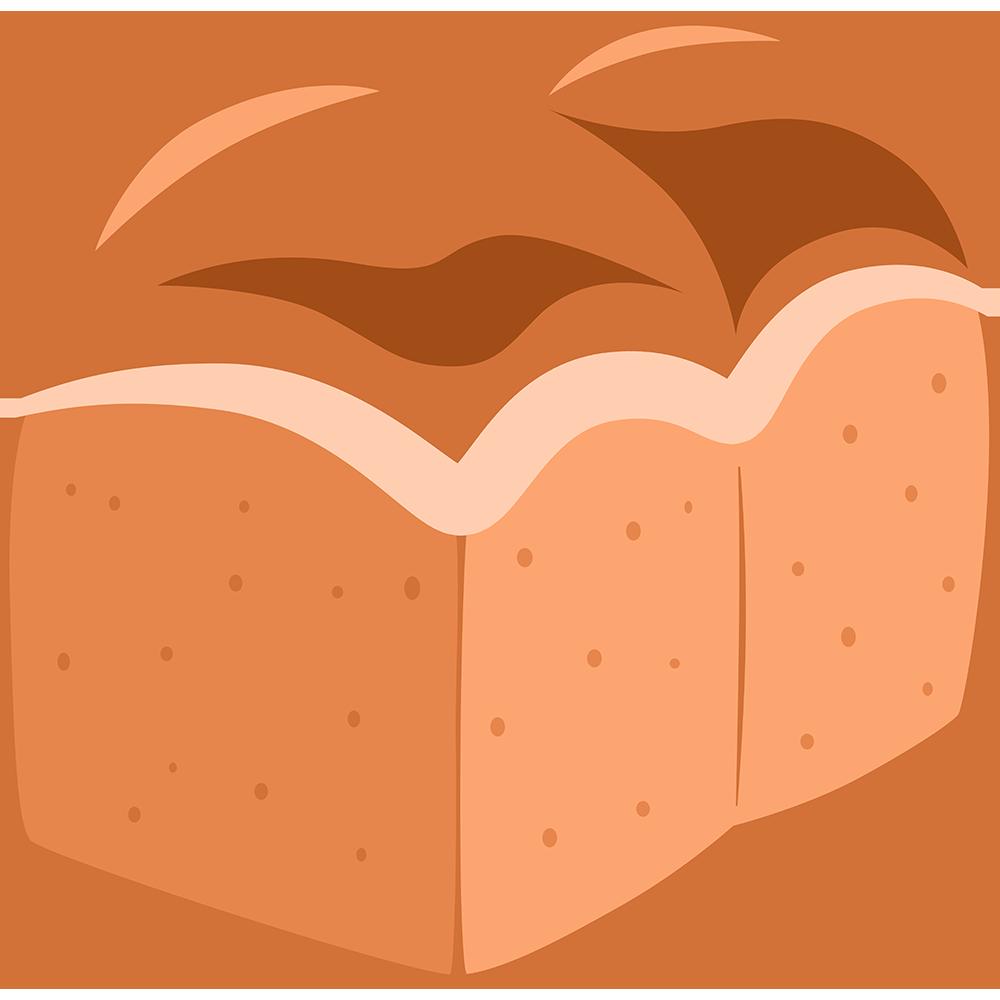 食パン一斤の無料イラスト