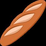 フランスパンの無料イラスト