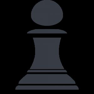 チェスの黒駒(ポーン)の無料イラスト
