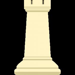 チェスの白駒(ルーク)