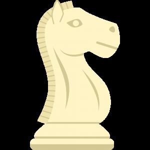 チェスの白駒(ナイト)の無料イラスト