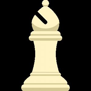 チェスの白駒(ビショップ)の無料イラスト
