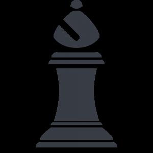 チェスの黒駒(ビショップ)の無料イラスト