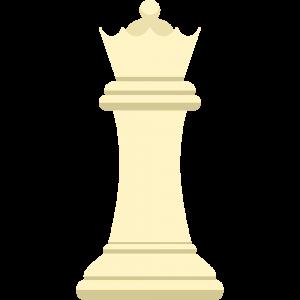 チェスの白駒(クイーン)