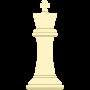 チェスの白駒(キング)の無料イラスト