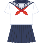 セーラー服(夏服)の無料イラスト