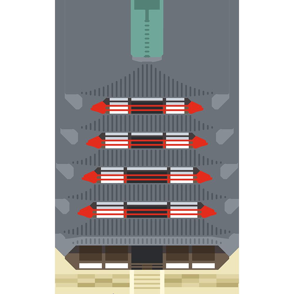法隆寺五重塔の無料イラスト