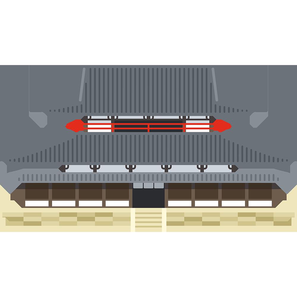 法隆寺金堂の無料イラスト