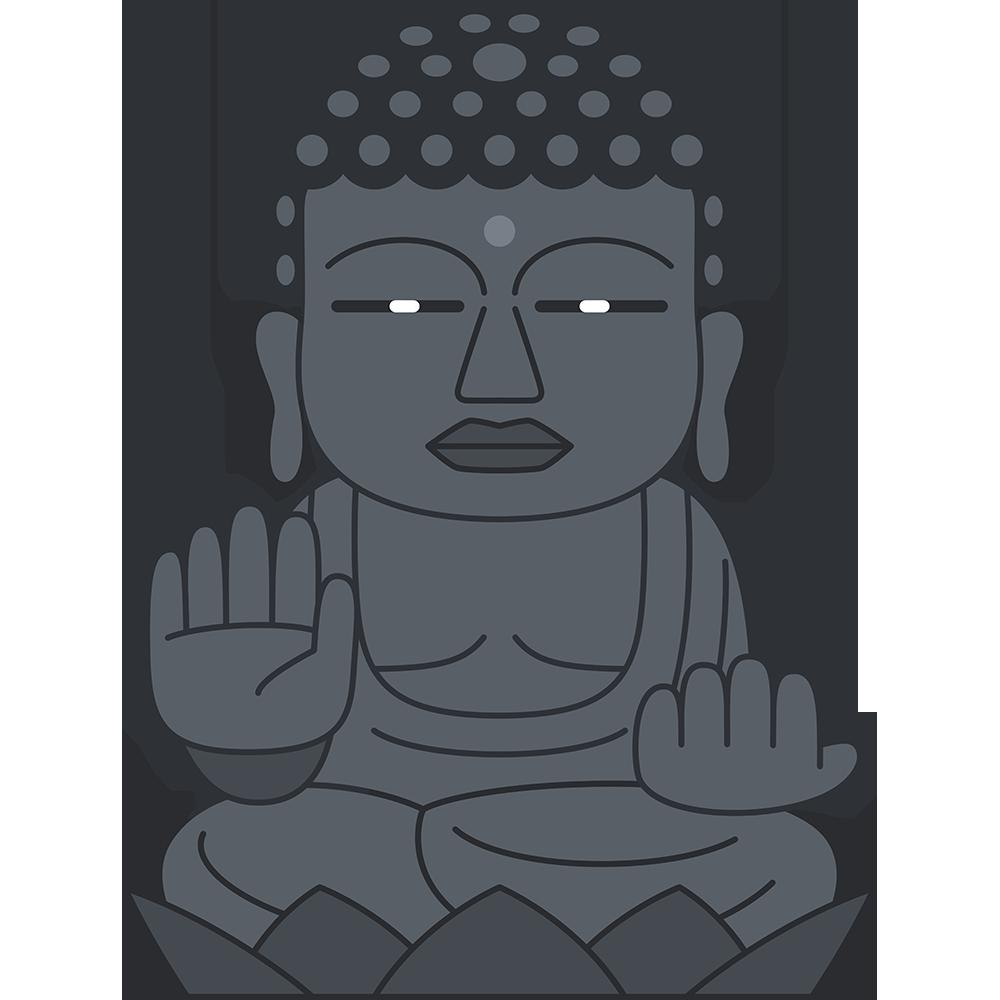 奈良の大仏(東大寺)の無料イラスト