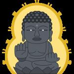 後光のある奈良の大仏(東大寺)の無料イラスト