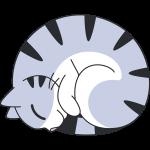 猫:ニャンモナイトの無料イラスト