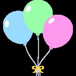 風船の束の無料イラスト