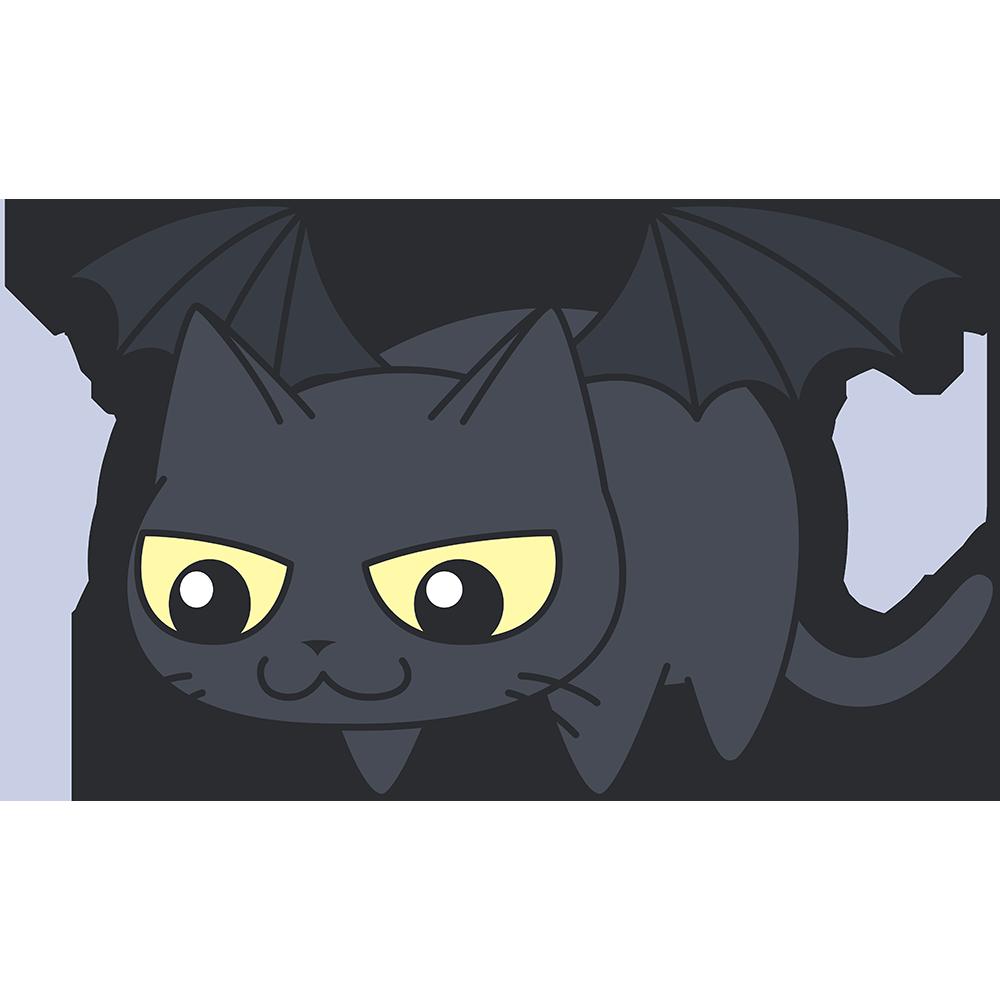 黒猫悪魔の無料イラスト
