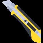 カッターナイフの無料イラスト