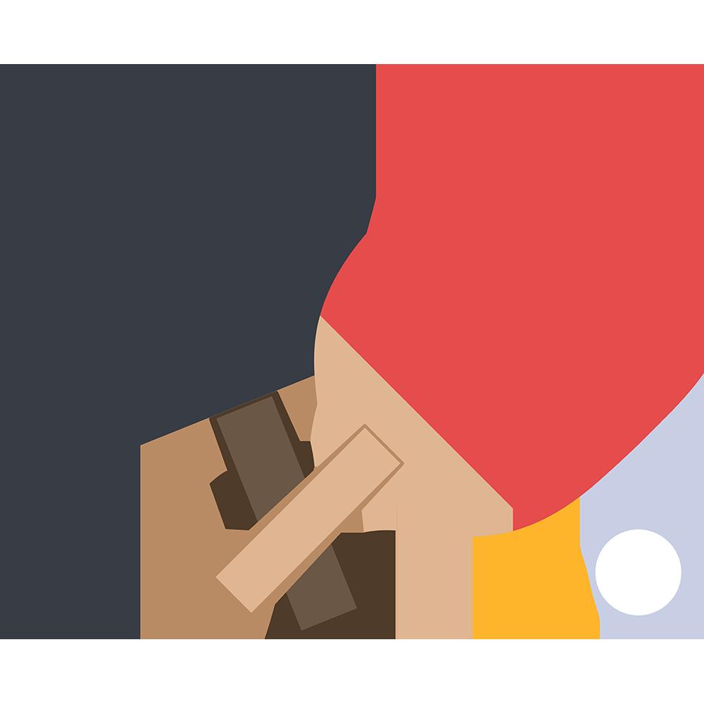 卓球のラケットの無料イラスト