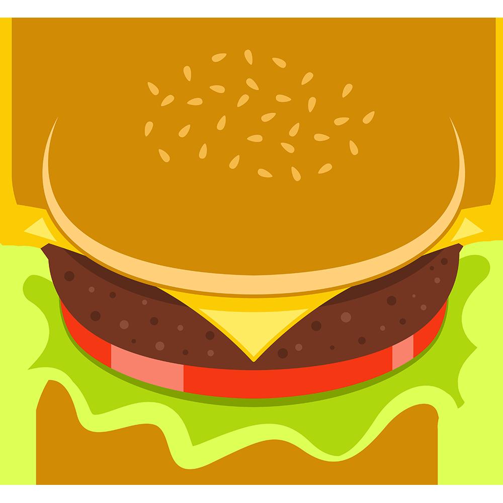 ハンバーガーの無料イラスト