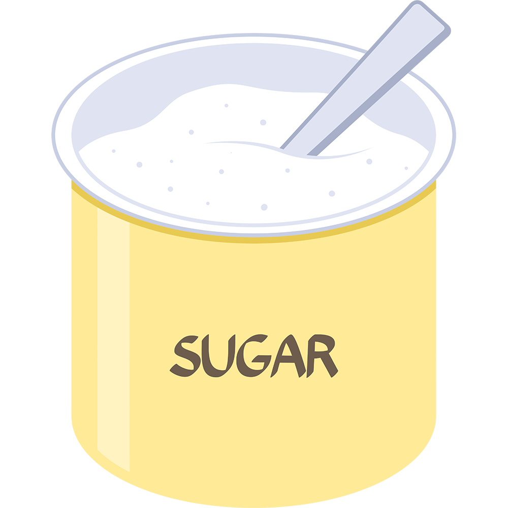 砂糖の無料イラスト