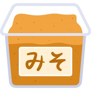 白味噌の無料イラスト