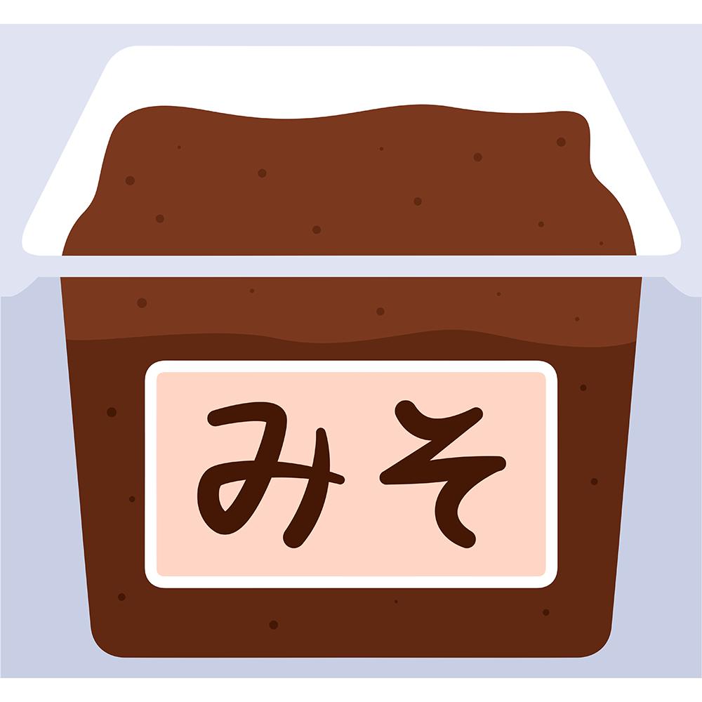 赤味噌の無料イラスト