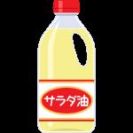 サラダ油の無料イラスト