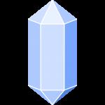 水晶(クリスタル)の無料イラスト