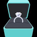 箱入り婚約指輪の無料イラスト